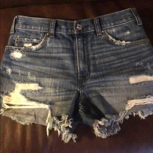 Abercrombie Festival Distressed Jean Shorts Size 0